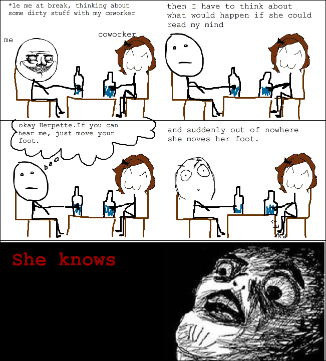 She knows! - meme