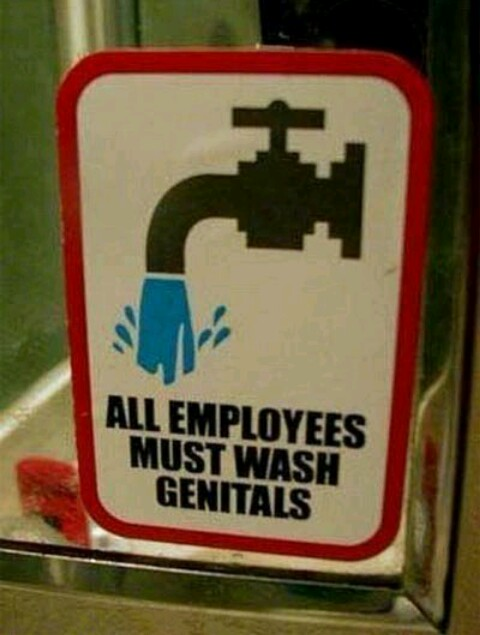 Wash yo genitals! - meme