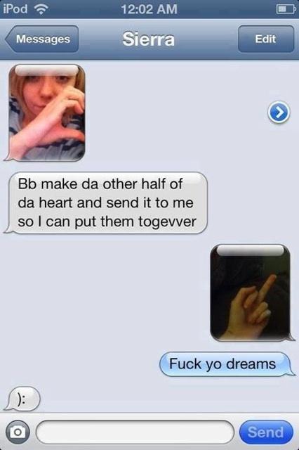 Fuck yo dreams! - meme