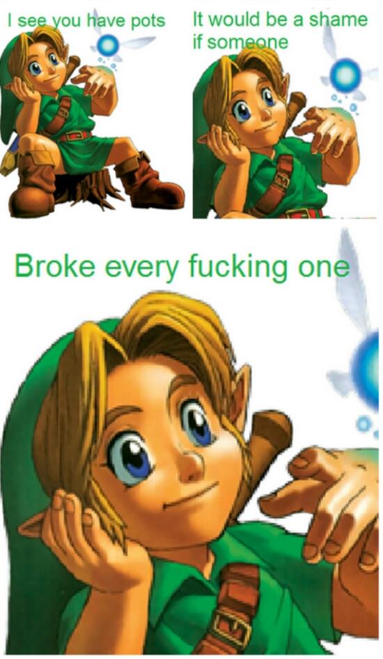 Fucking Link ('- ') - meme