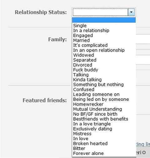 facebook relationship - meme