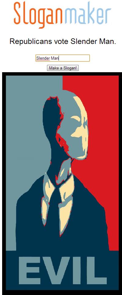 slender for president - meme