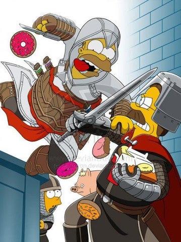 Assassin's Simpson - meme