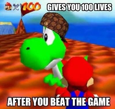 Yoshi is trolling - meme